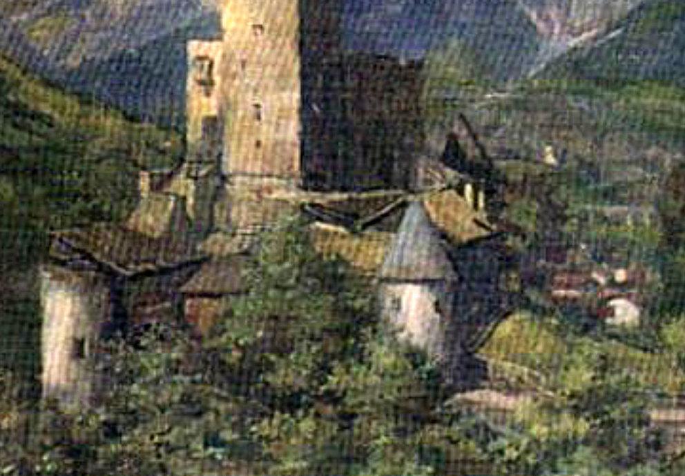 Malerei Schloss Landeck