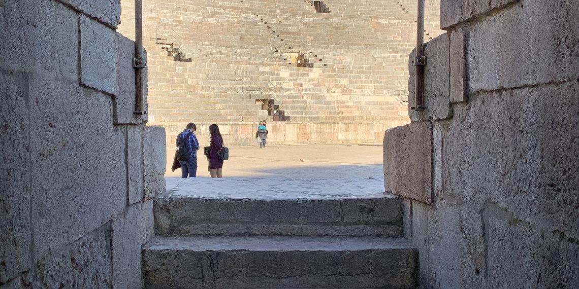 Verona Arena Stufen in die Arena