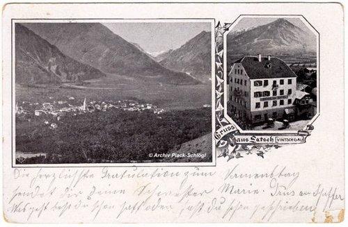 Latsch Gruß Vinschgau 1903