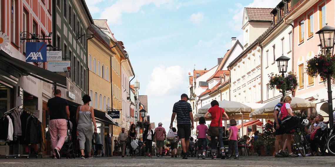 Reichenstraße, Fußgängerzone, Füsse, Foto Tschaikner