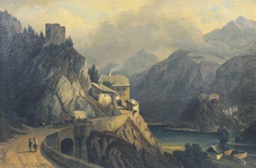 Fernstein Gemälde Frühneuzeitliche Strasse