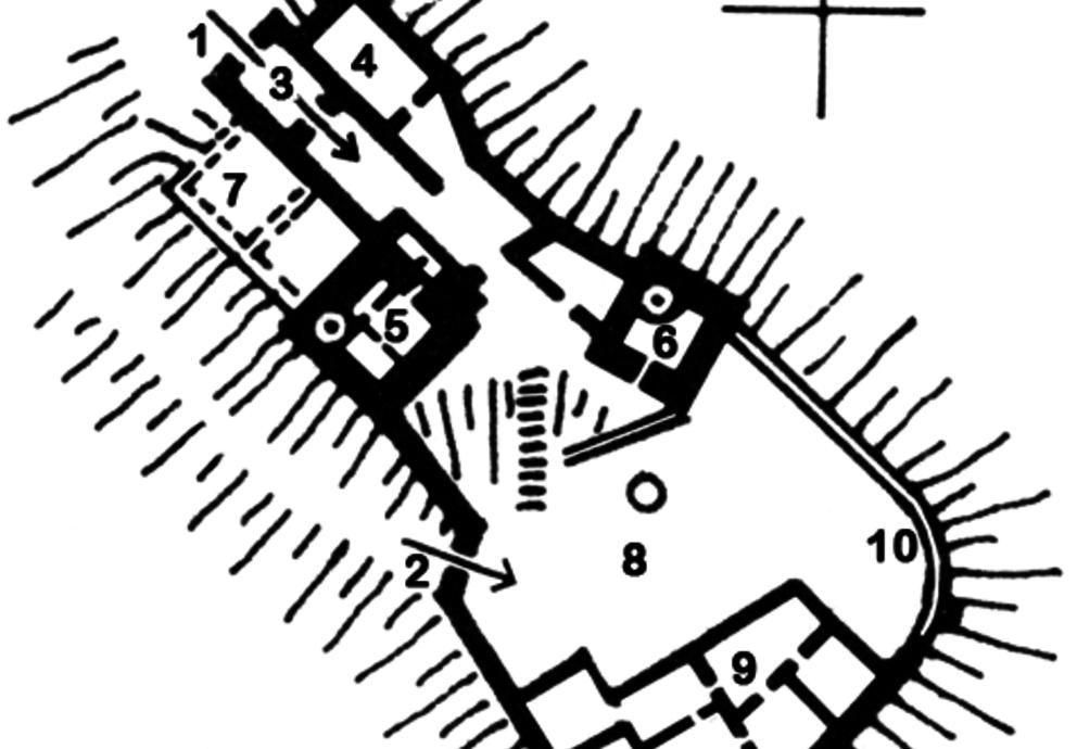 Grundriss Wehrburg