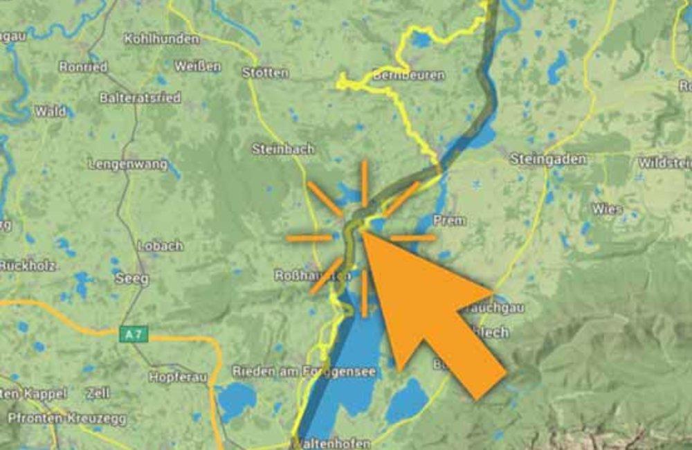 Wanderroute, historische interaktive Karte mit Symbolen