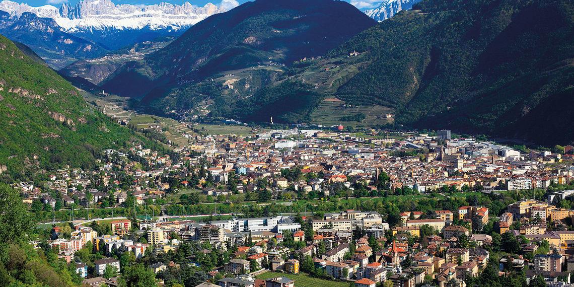 Bozen Panoramaaufnahme