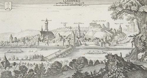 Historische Ansicht Von Landsberg