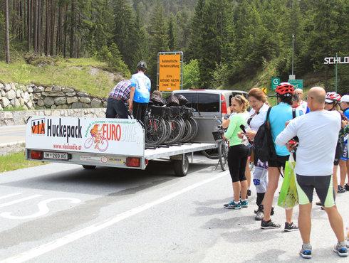 Radshuttle Radfahrer Fernpass Fernstein