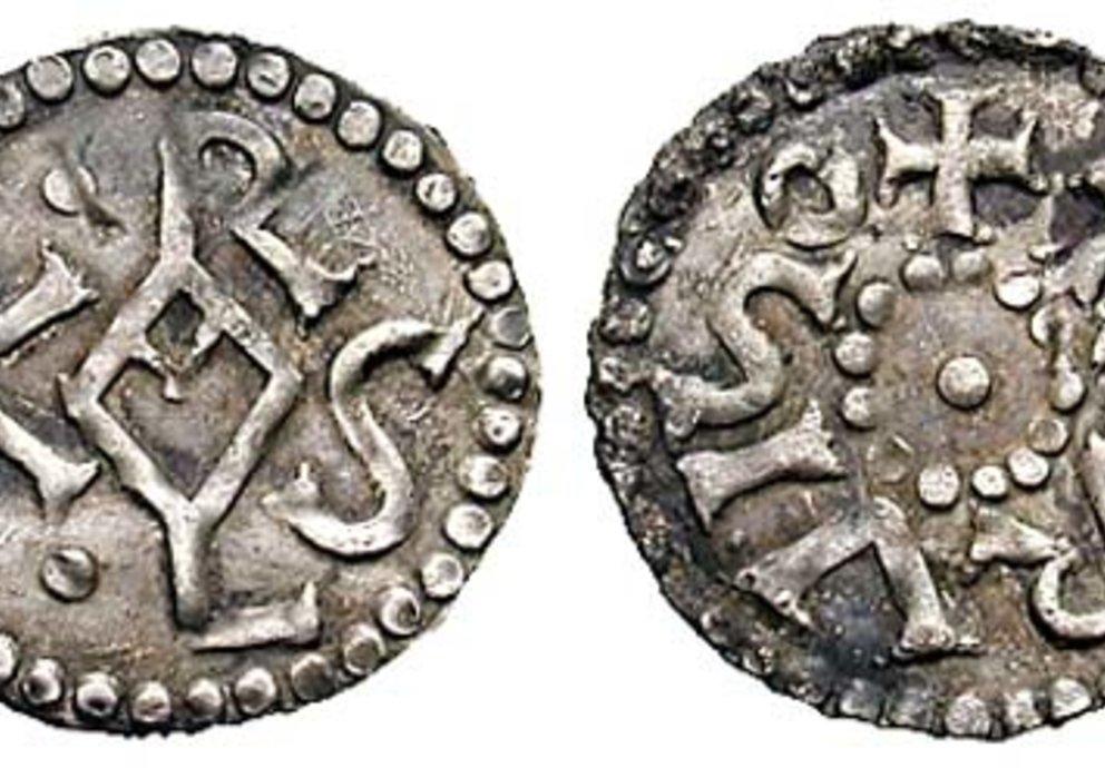 Münze Aus Zeit Karls Des Großen