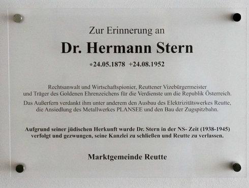 Hermann Stern Wirtschafspionier Reutte