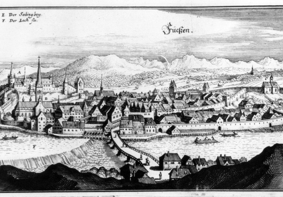 Füssen 1643, Merian