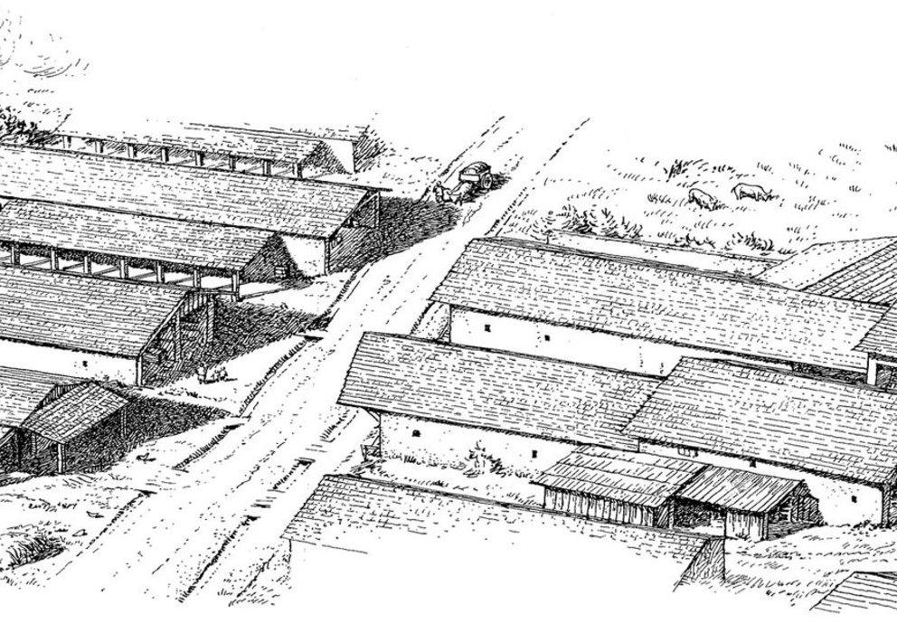 Siedlung von oben