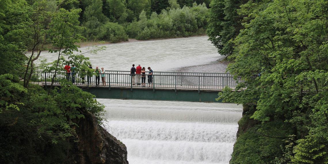 Brücke über dem Lechfall