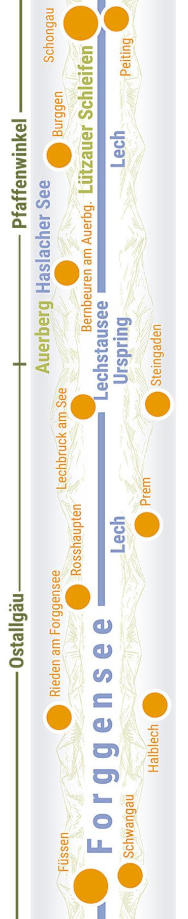 Übersichtskarte rechts Teilabschnitt 08 Auerbergland