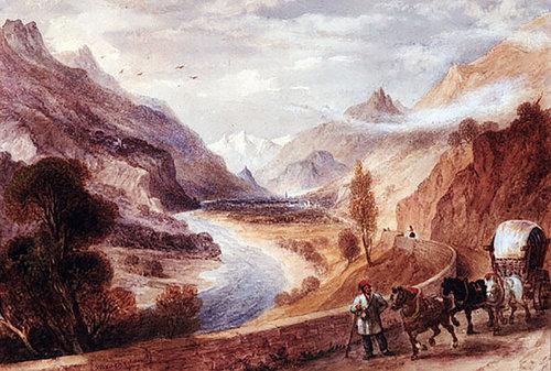 Malerei Mils Brokedon 1854