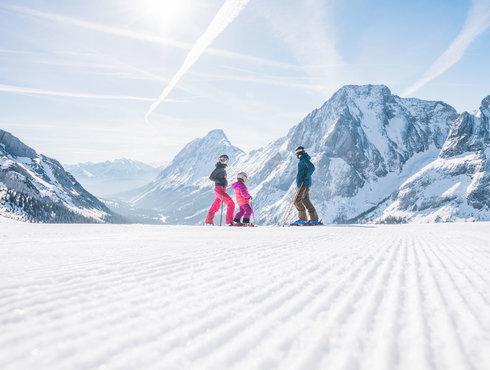 Winter Skifahren Familie