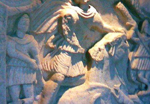 Mithraeum Mithras Skulptur Platschka