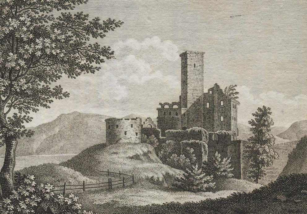 Burg Hocheppan 1828, Foto: Wikipedia Gemeinfrei