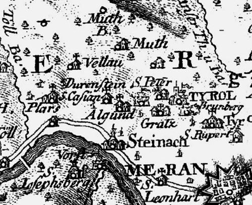 Atlas Tyrolensis Algund 1774