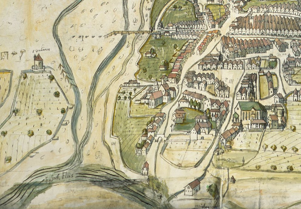 Bozen, Standtansicht, Ludwig Pfendter, 1607