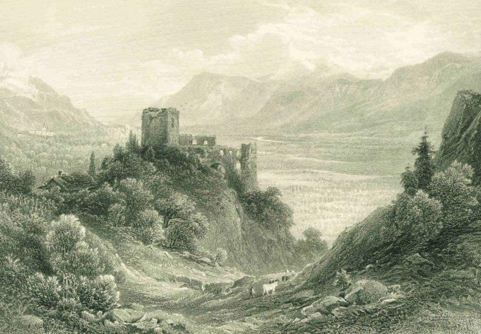 Ruine Brunnenburg, Meran, Foto Wikipedia Gemeinfrei