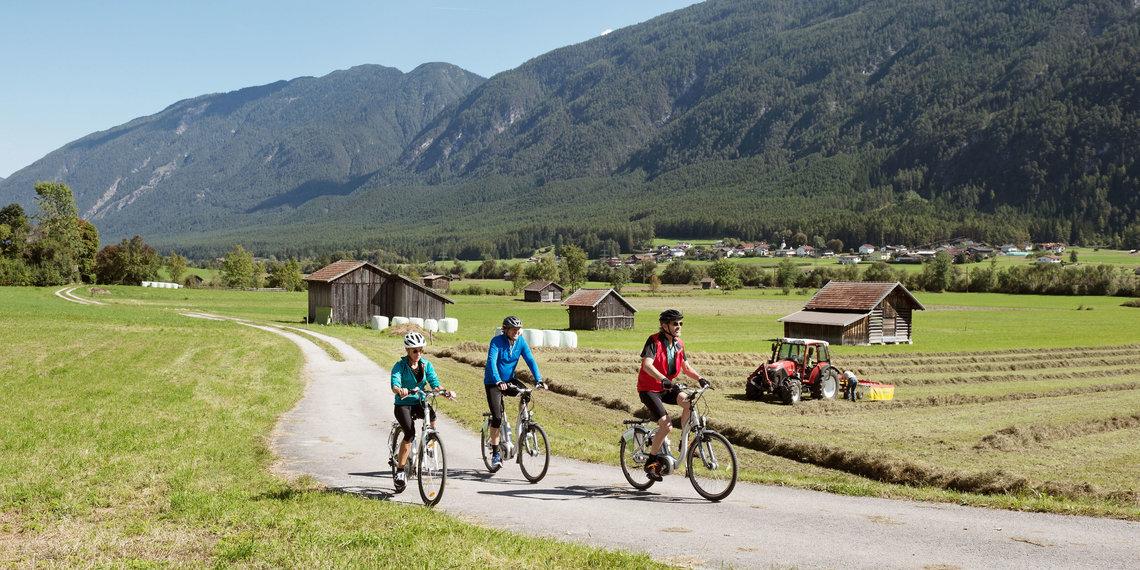 Radfahrer Gurgltal