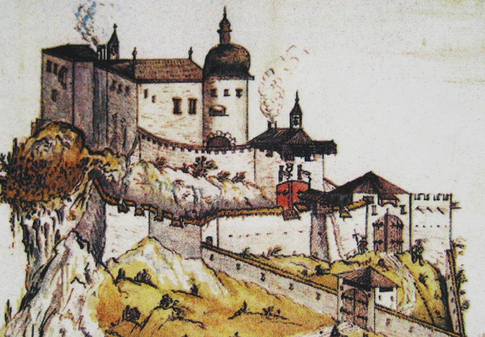 Zeichung Burg Ehrenberg
