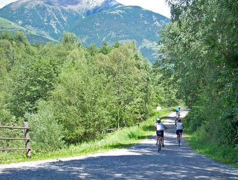 Schlanders Radweg Westlich des Dorfes