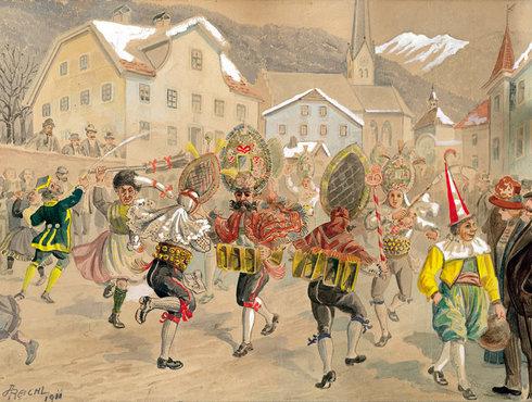 Reichl Imster Schemenlaufen 1911