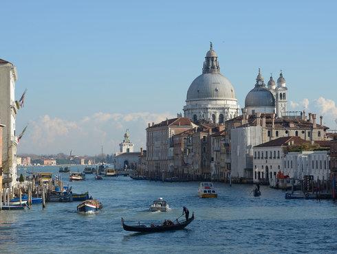 Canal Grande Chiesa Della Salute E Dogana Dal Ponte Dell Accademiay