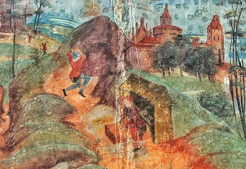 Bergknappen Bei Der Arbeit Imster Pfarrkirche