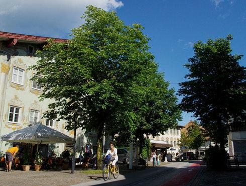Frühling Sommer Radler Zentrum Reutte