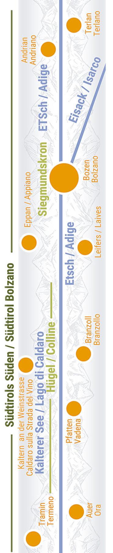 Übersichtskarte rechts Teilabschnitt 27 Bozen