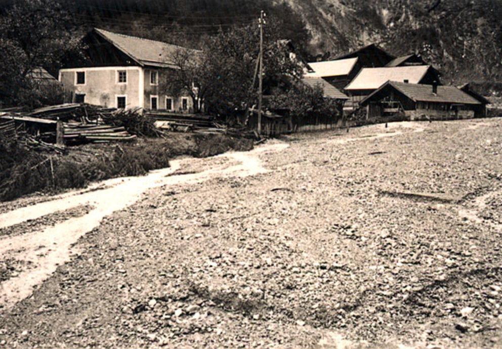 Foto Mils bei Imst Vermurung 1933