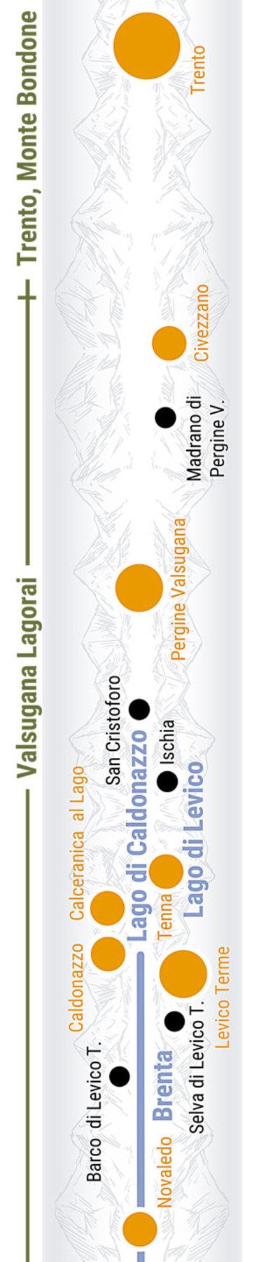 Übersichtskarte rechts Teilabschnitt 32a Obere Valsugana