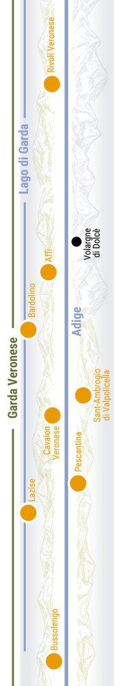 Übersichtskarte rechts Teilabschnitt 36p Garda Veronese
