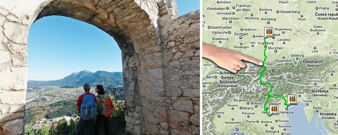 Lech Ehrenberg Reutte Mit Finger Karte
