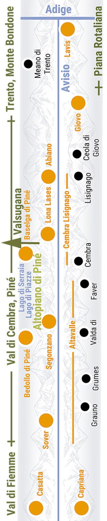 Übersichtskarte rechts Teilabschnitt 30 Val Di Cembra