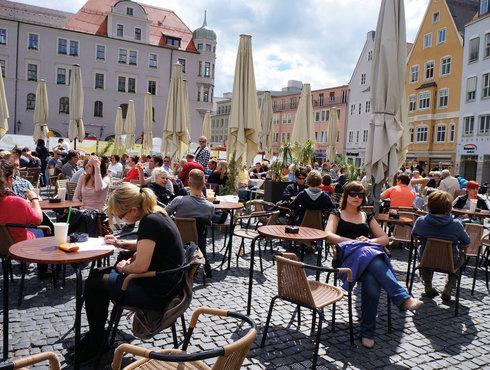 Augsburg Rathausplatz, Foto Regio Augsburg, Christine Pemsl