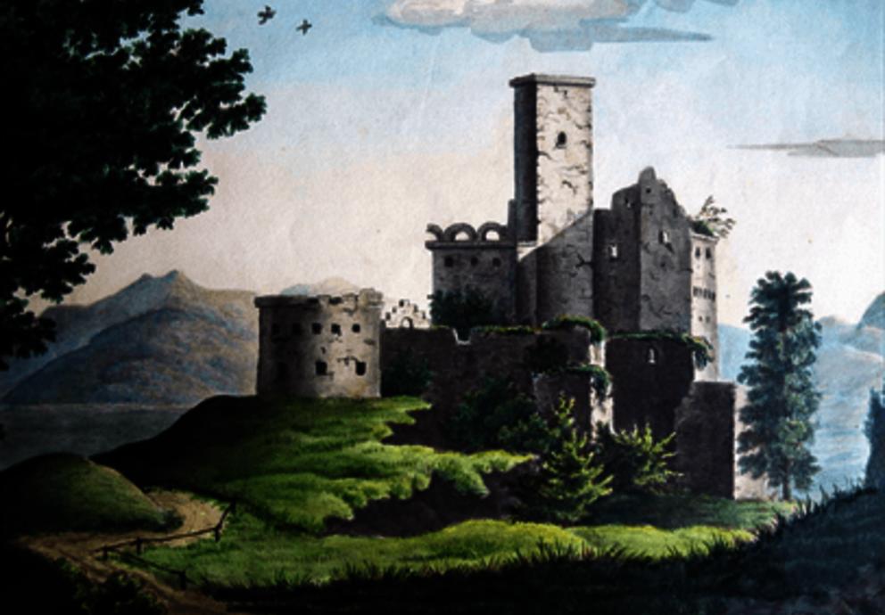 Anton Lindner Hocheppan 1837, Aquarell, Privatbesitz