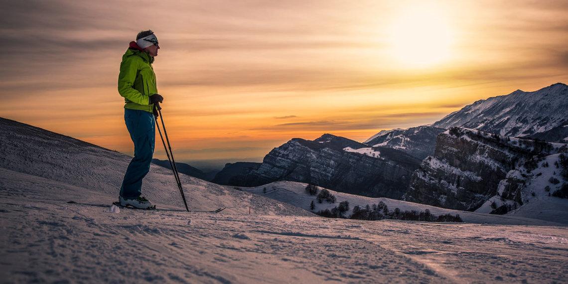 Winter sci alpinismo polsa