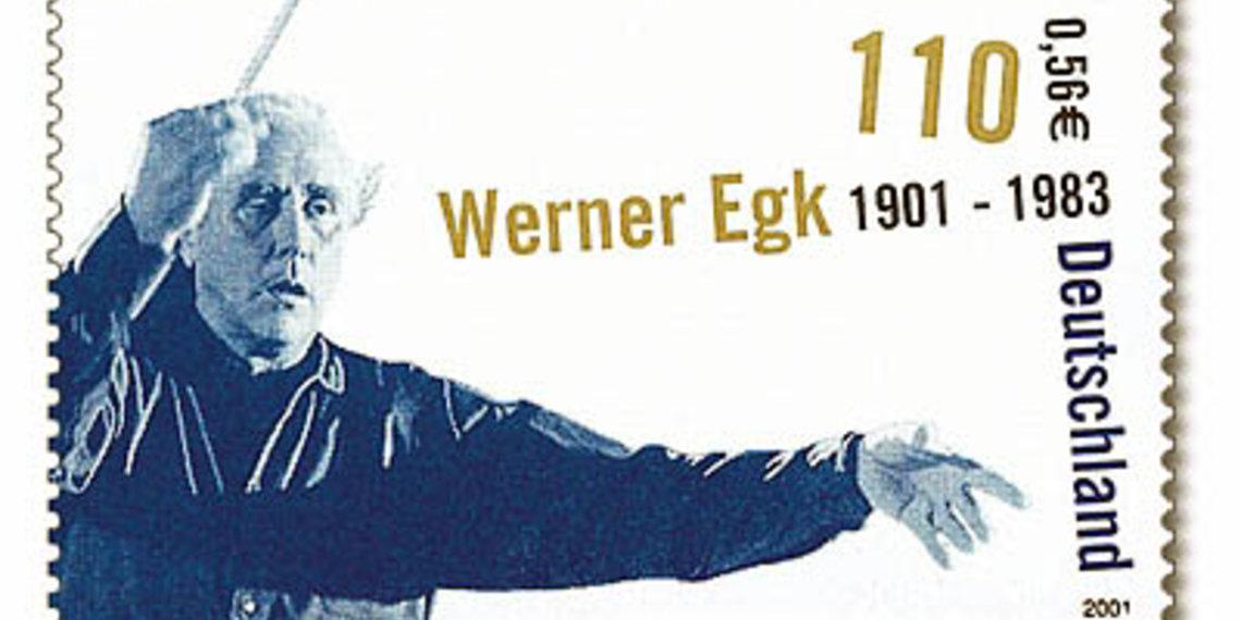 briefmarke Werner Egk