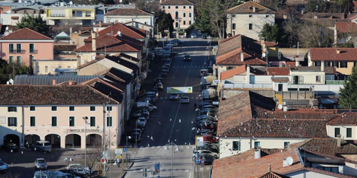 Stadt Roncade Blick von oben