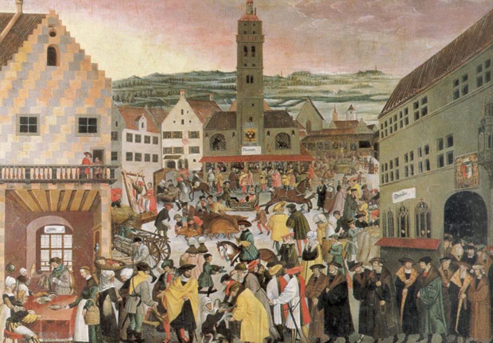 Perlachplatz Augsburg 1550