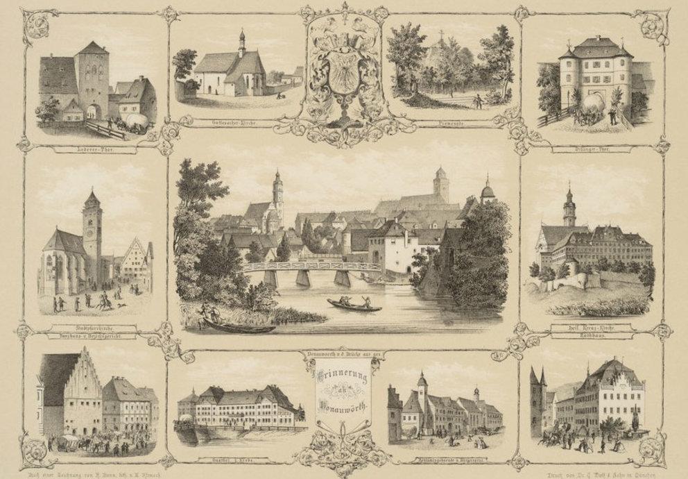 Die Ansichten von Donauwörth von Franz Bonn