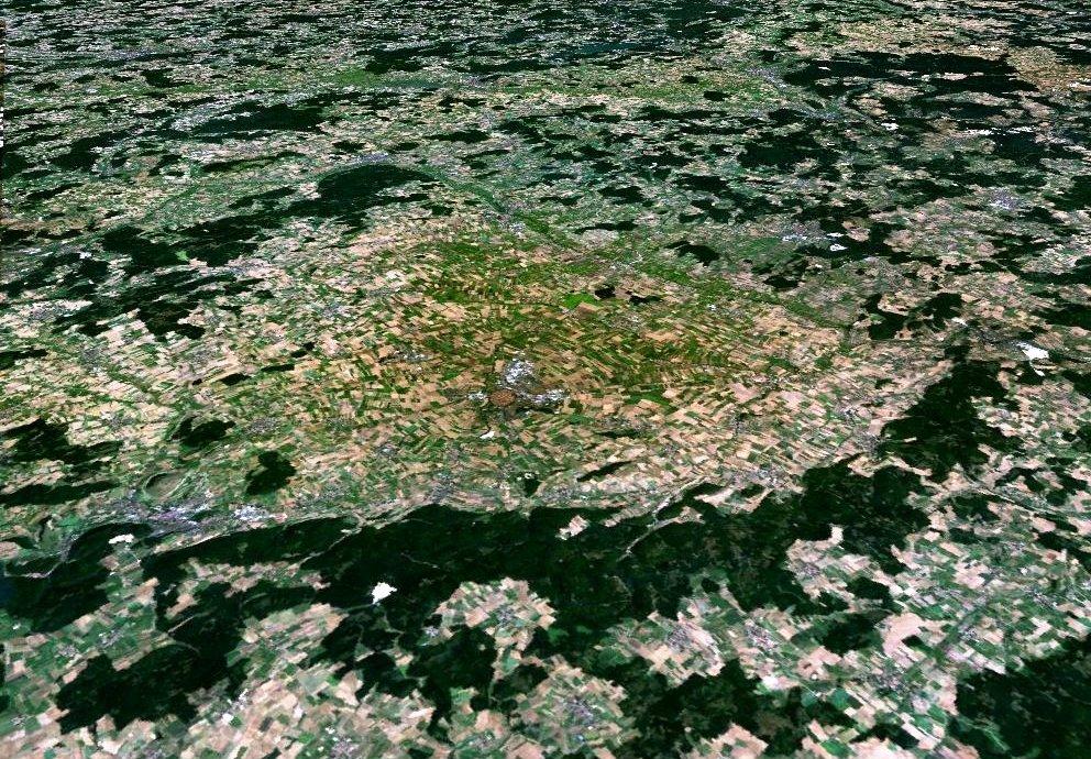 Ries Krater, Foto Wikipedia Nasa