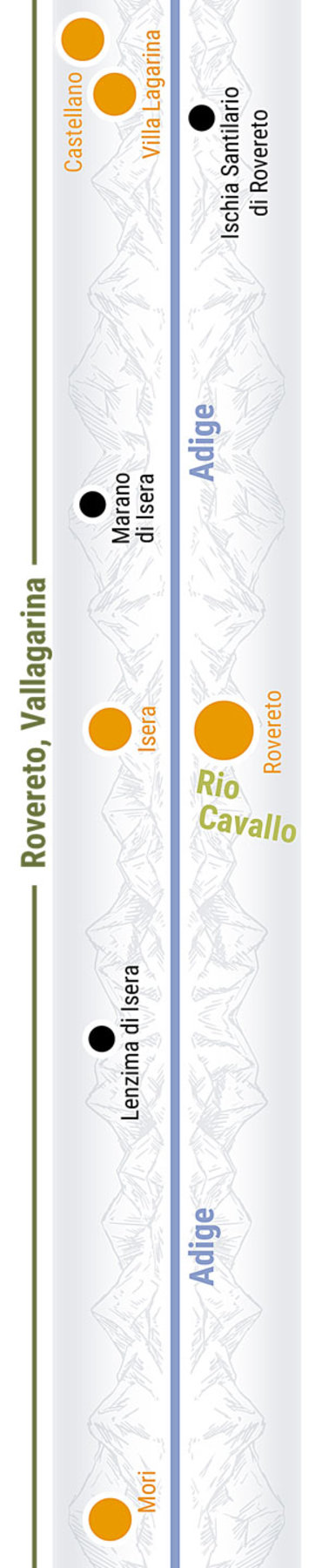 Übersichtskarte rechts Teilabschnitt 33p Rovereto