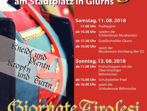 Tiroler Tage Plakat Glurns