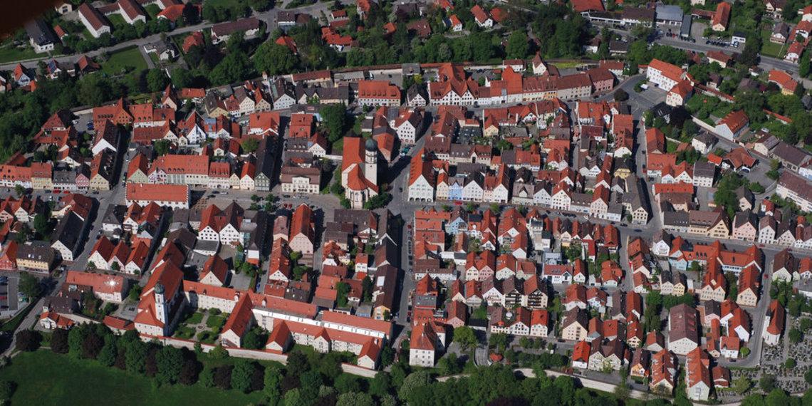 Luftbild Altstadt Schongau, Foto Schongau