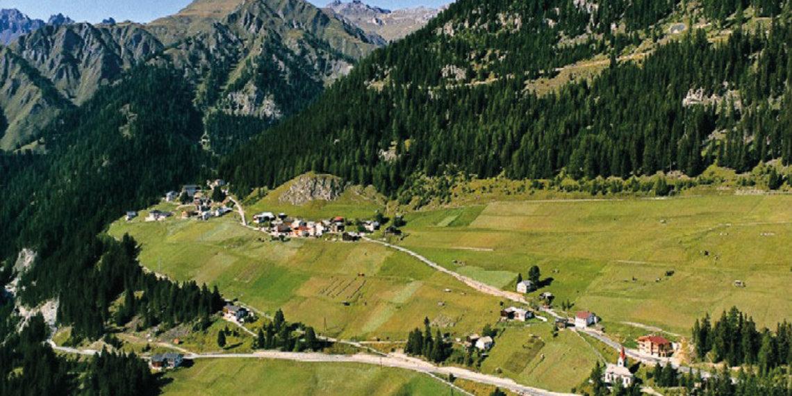 Tiroler Oberland Spiss Sommer Gesamtansicht