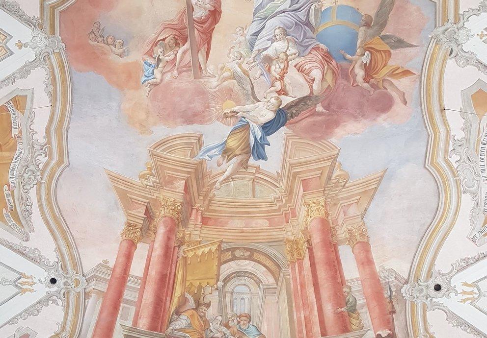 Pfarrkirche Sankt Stephan, Burggen, Gemälde, Foto Wikipedia Ricardalovesmonuments