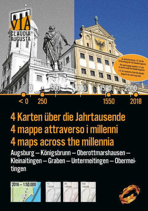 Titelseite der Historischen Karte Augsburg Süd